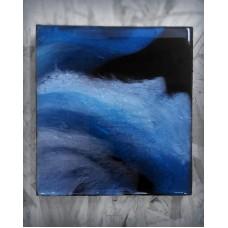 """Картина """"Серебристый космос"""", 14х15 см"""